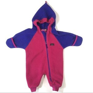 L.L. Bean Fleece Winter Body Suit Baby 6M Bunting